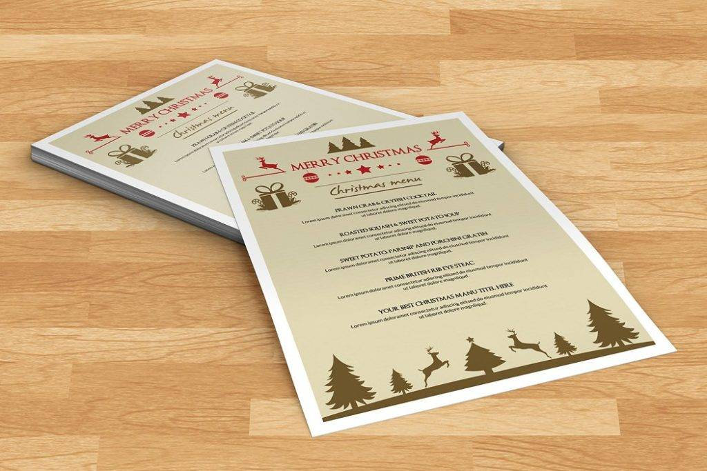 christmas party event menu example 1024x683