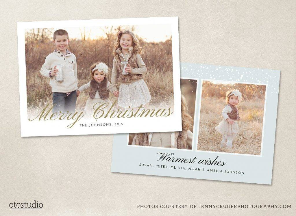 christmas photo card template example1