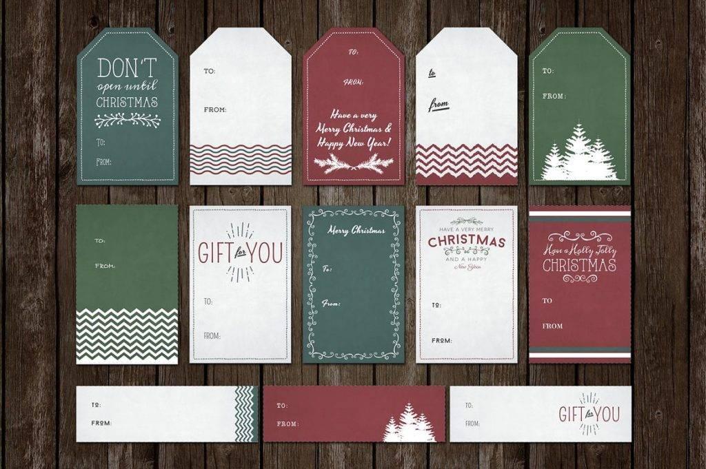 christmas tag design example