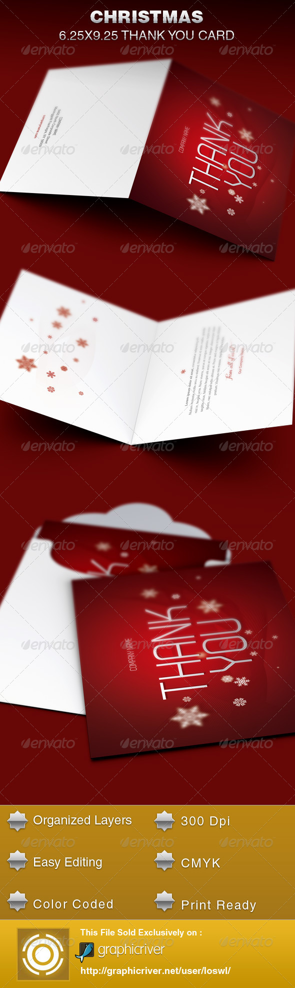 christmas thank you card template example