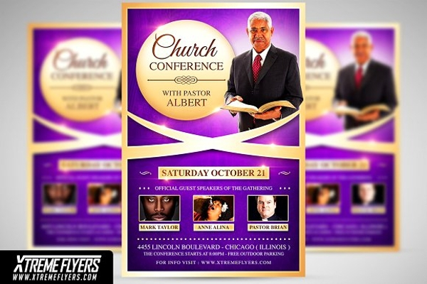 church event conference poster example