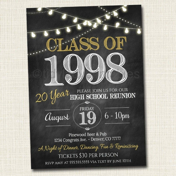 class of 1998 reunion invitation example