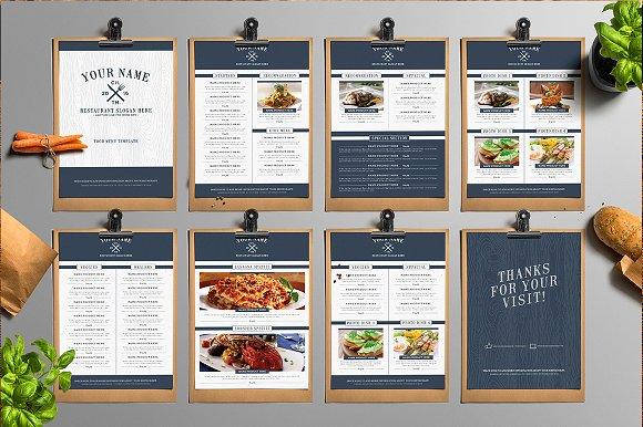 classy food menu