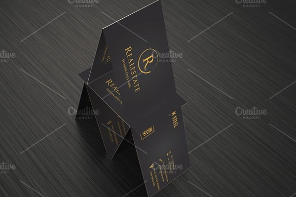 classy real estate business card example