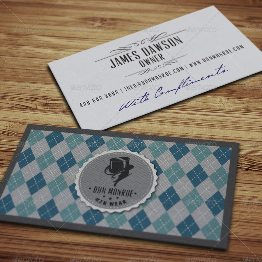 classy retro logo and business card example