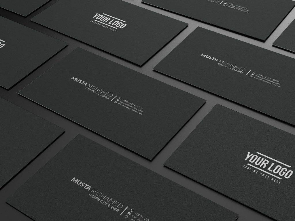 clean black minimal business card example