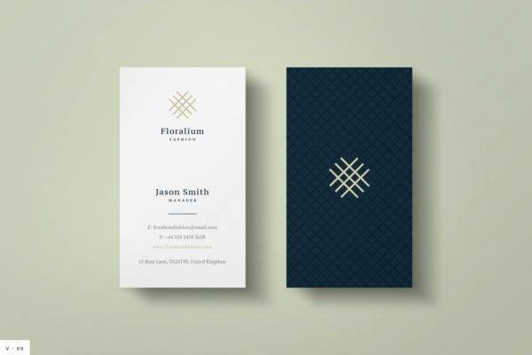 clean business card example