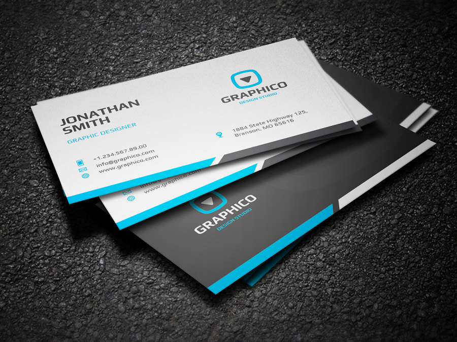 clean corporate business card design template1