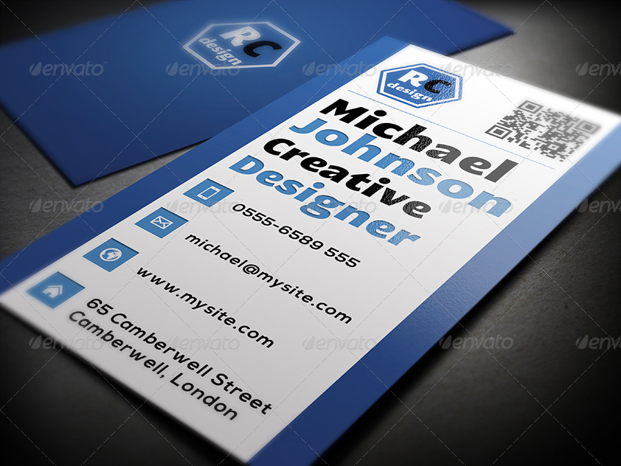 clean graphic designer business card example