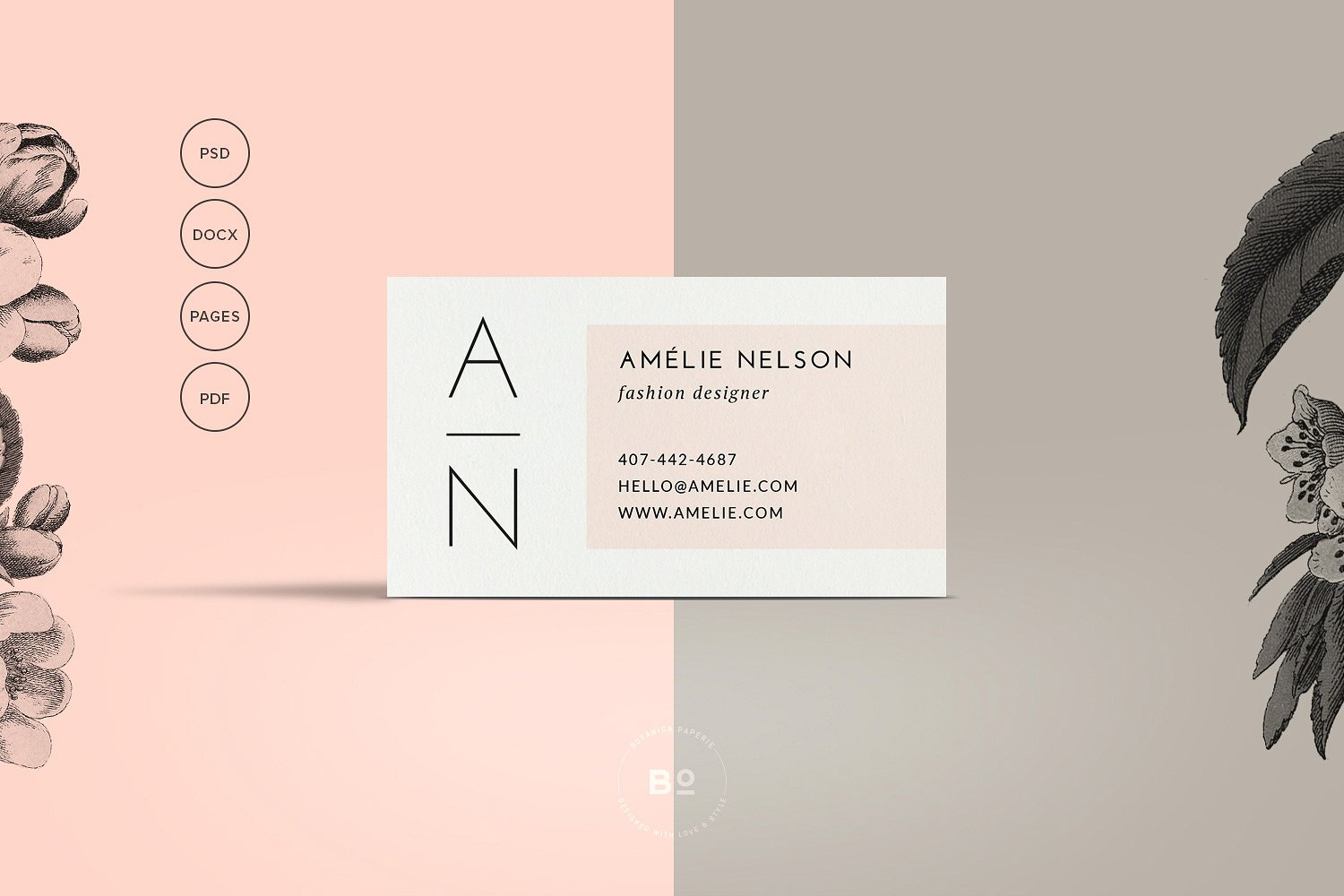 clean minimalist business card example