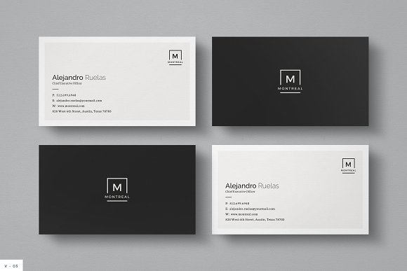 clean personal business card example