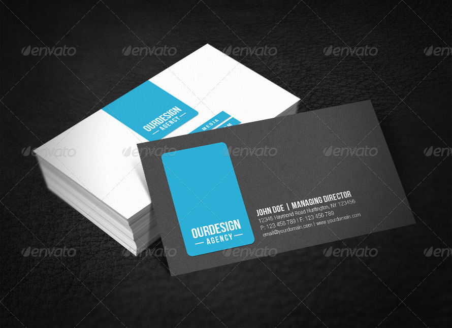 clean professional business card example