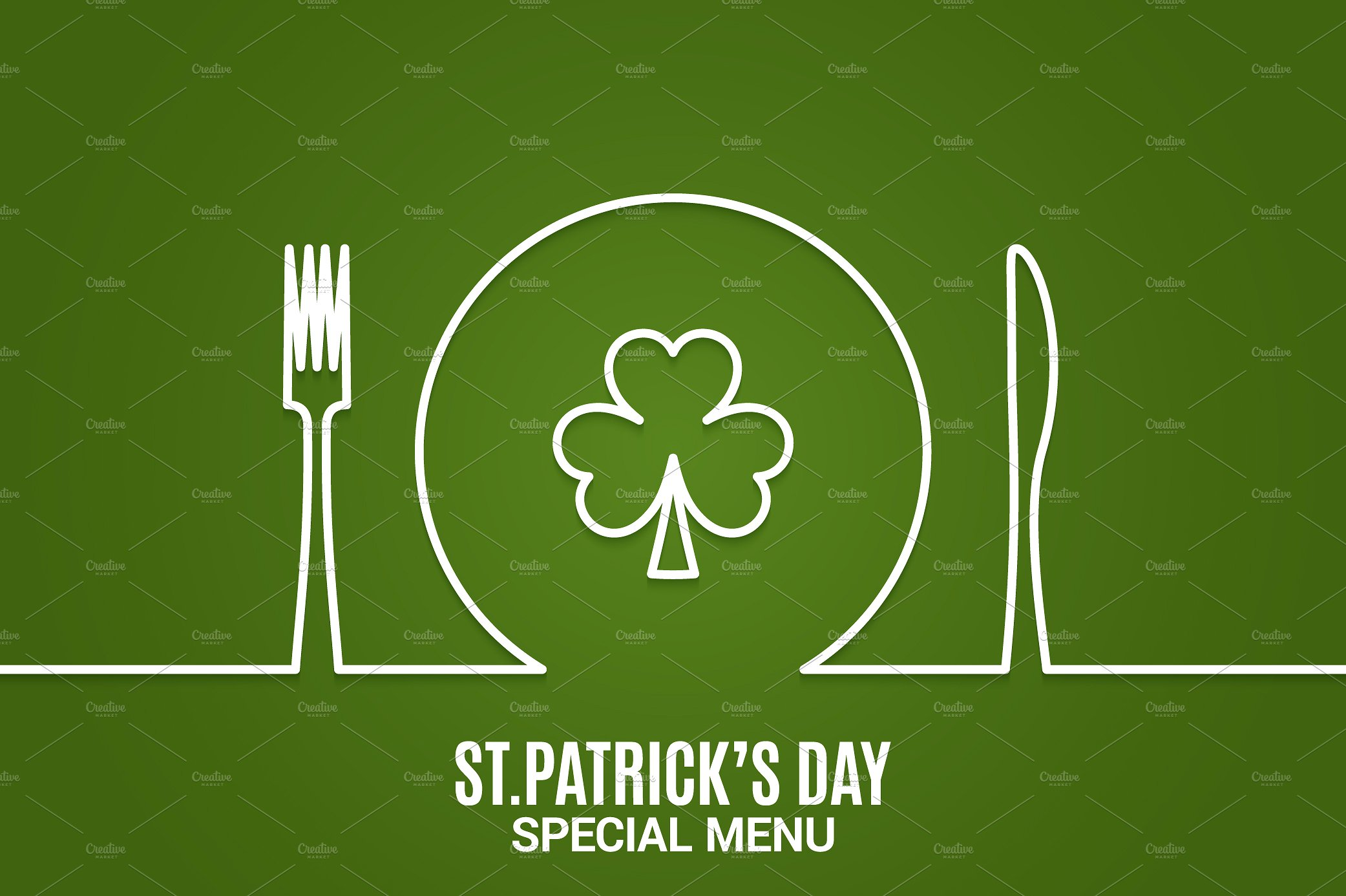 clean st patricks day menu example