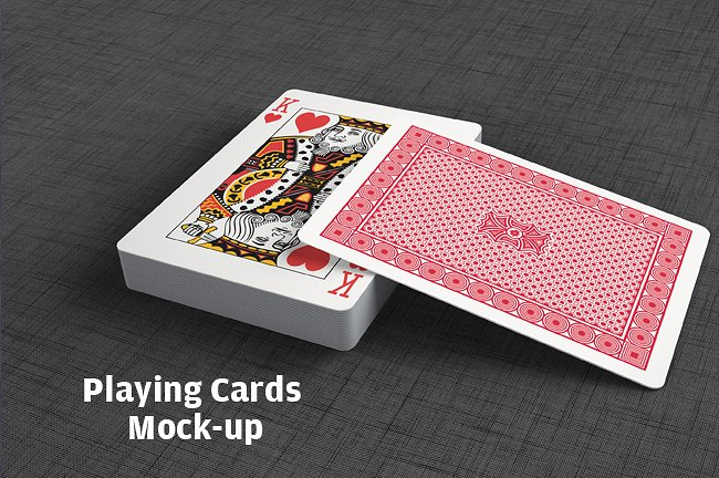 clean and professional playing cards mock up