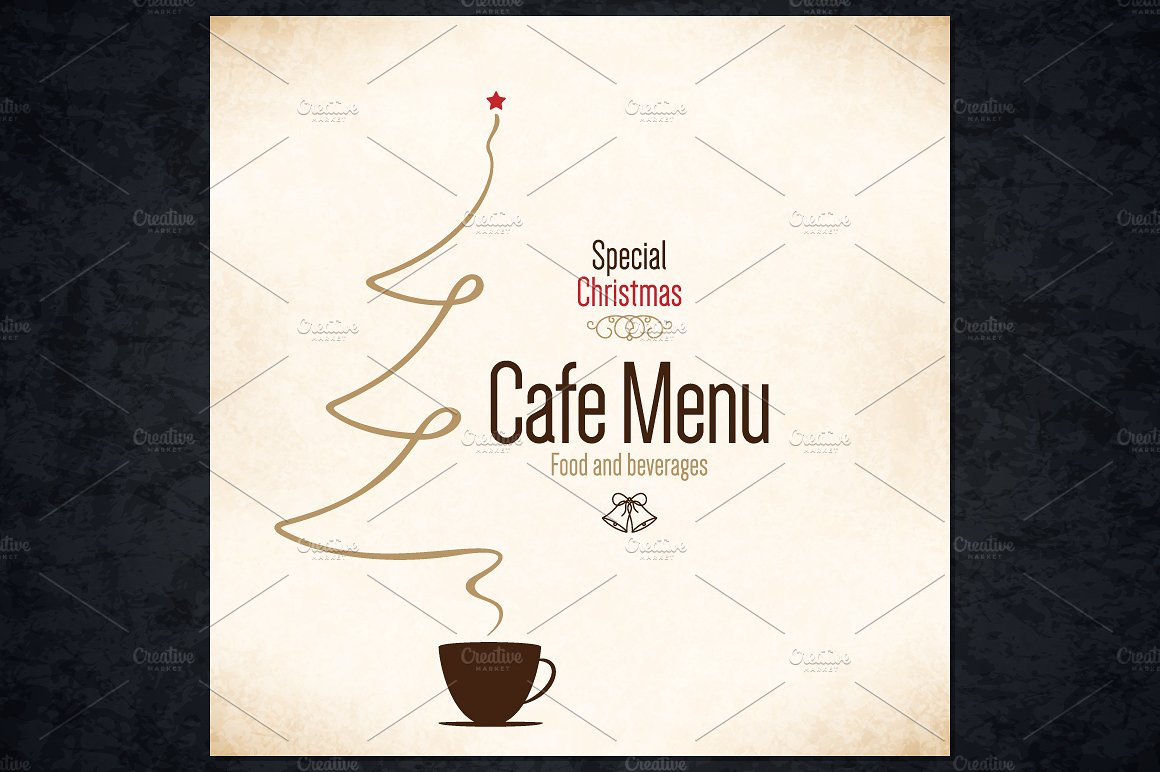 coffee christmas cup menu example