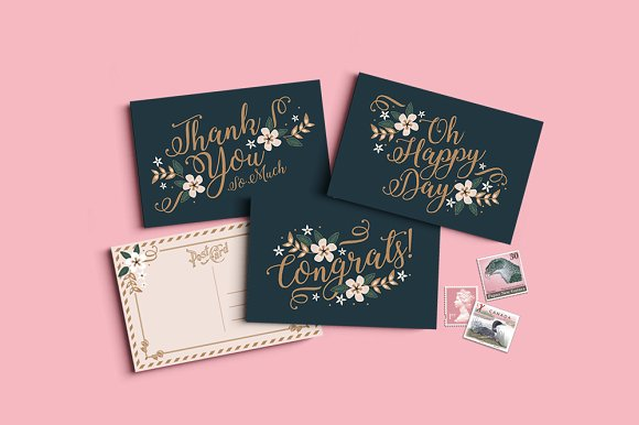colored elegant thank you card example
