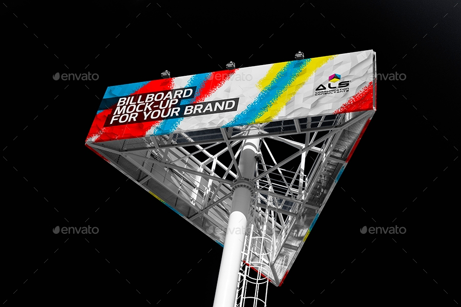colorful billboard mock up example