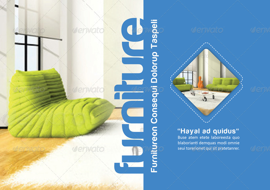 colorful furniture brochure example