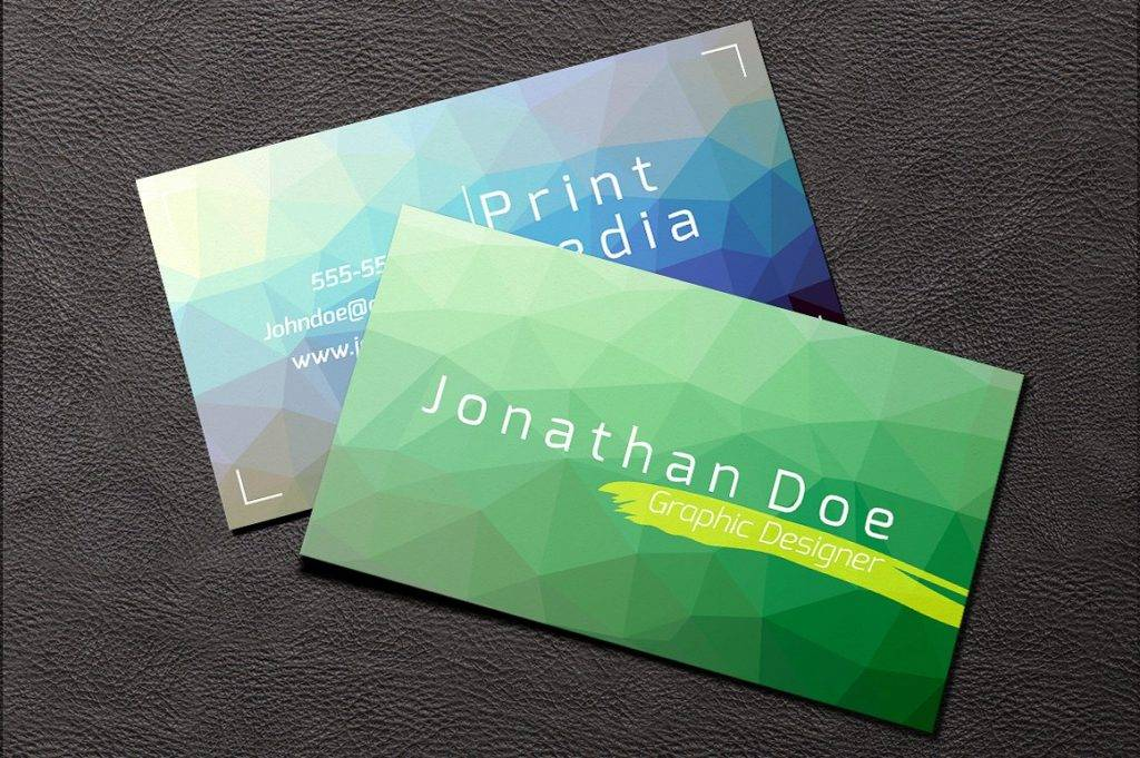 colorful graphic designer business card example