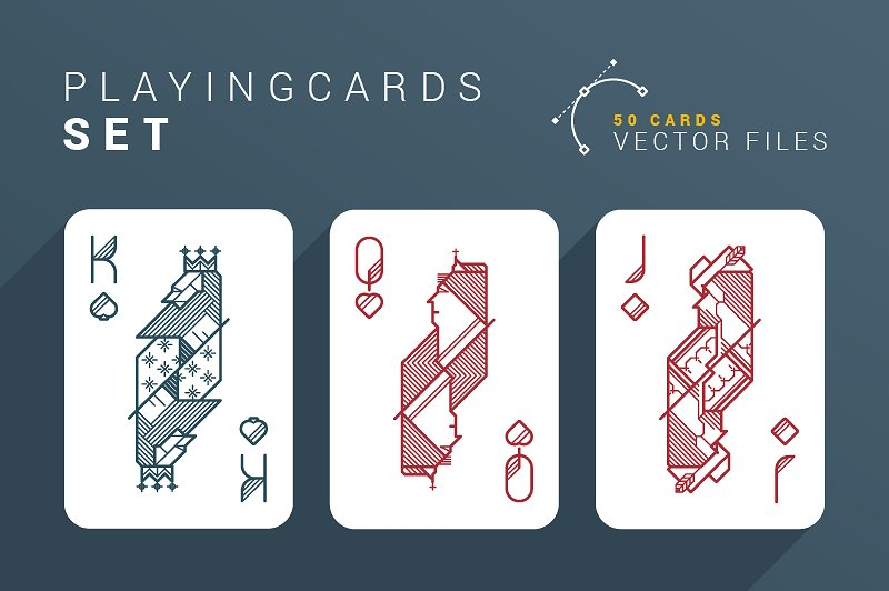 colorful playing cards set