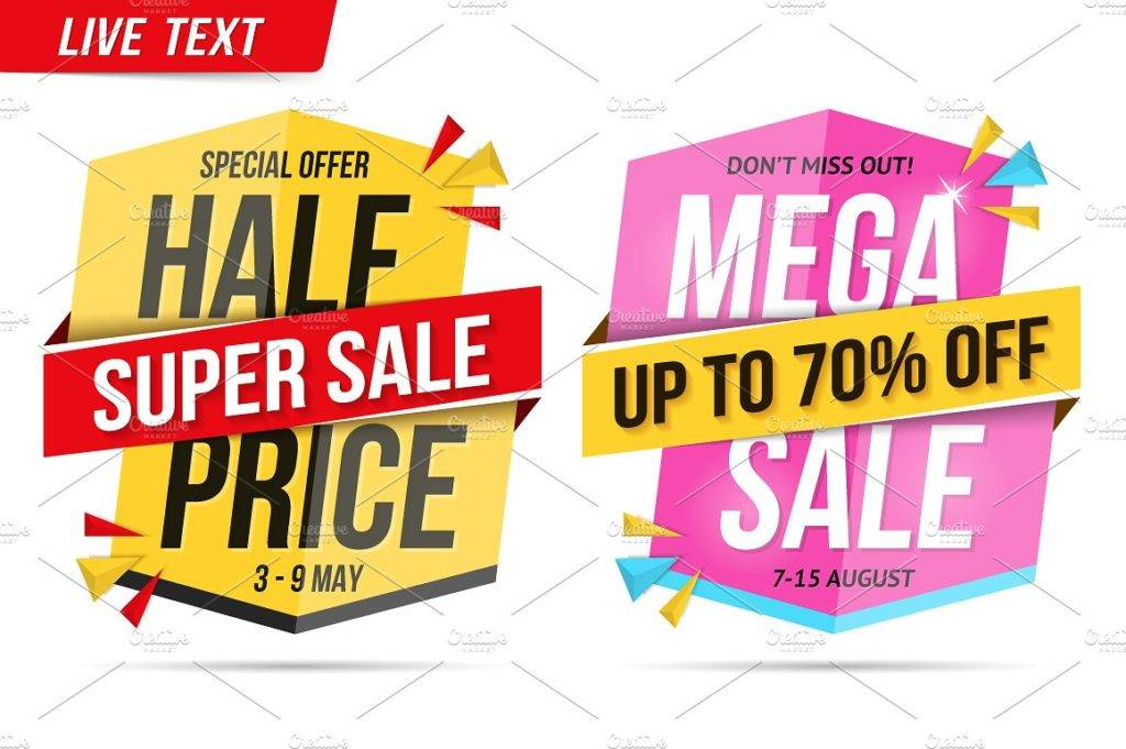 colorful sale banner example