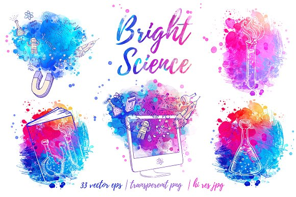 colorful science poster example