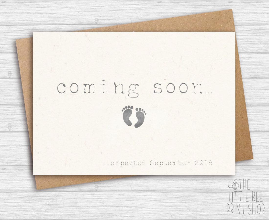 coming soon pregnancy postcard example