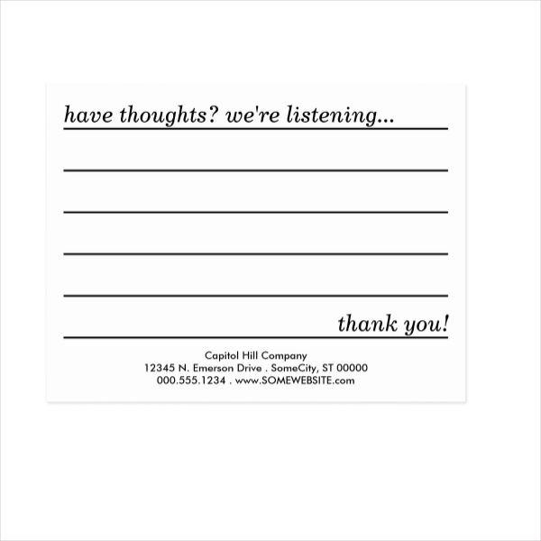 comment minimalist postcard design example