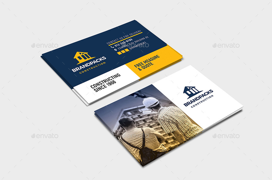 construction business card design example