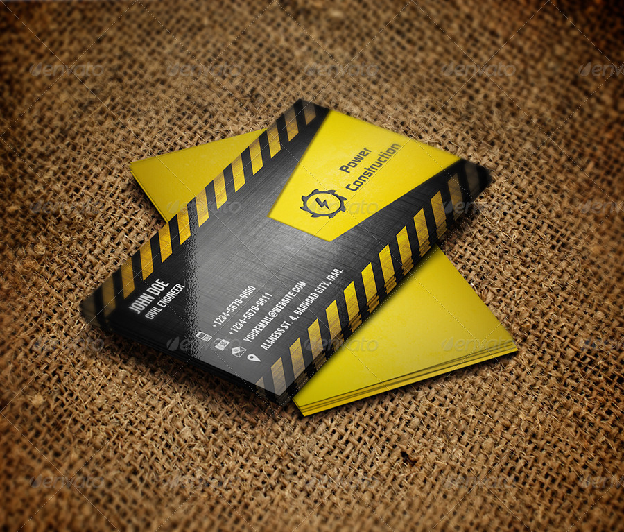 construction business card example