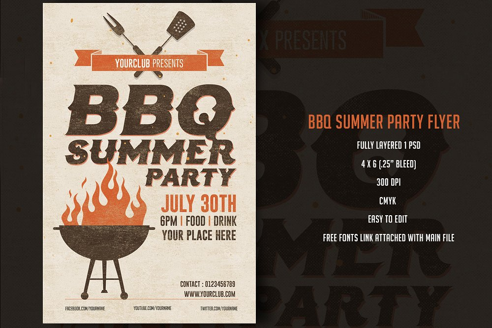 cool bbq party menu example