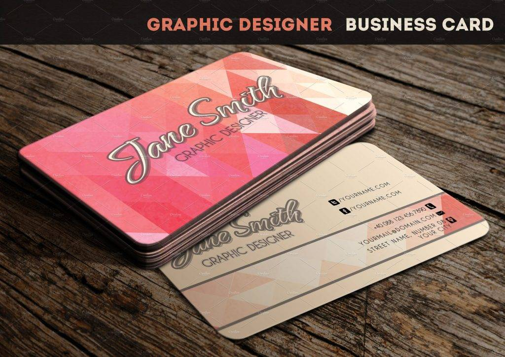 cool chic business card example