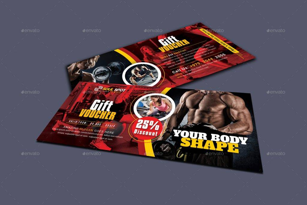 cool fitness gift voucher example