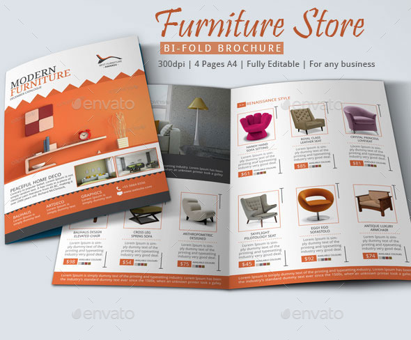 cool furniture store brochure example