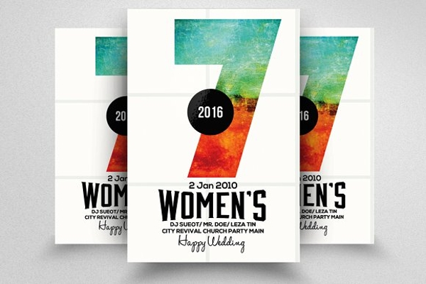 cool womens conference poster example