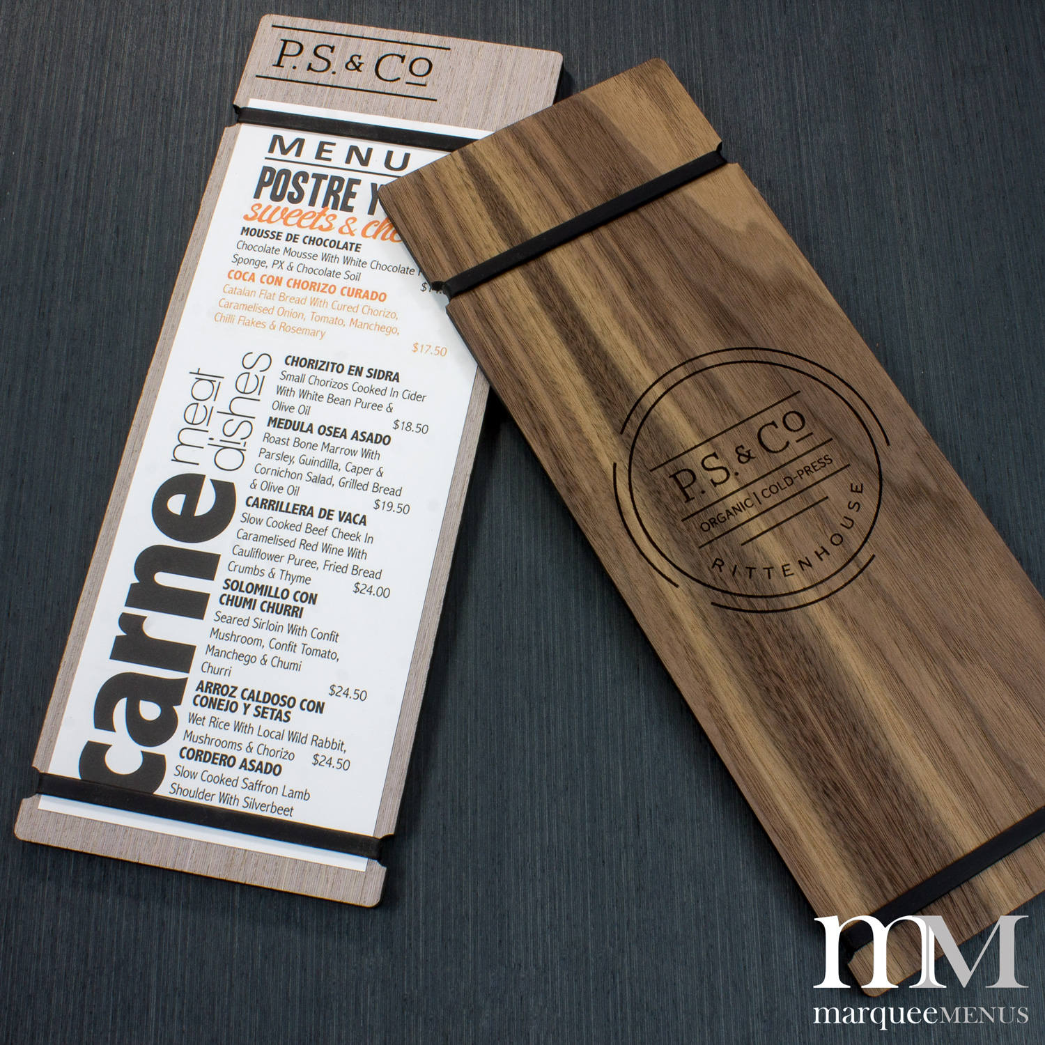 cool wooden birthday menu example2
