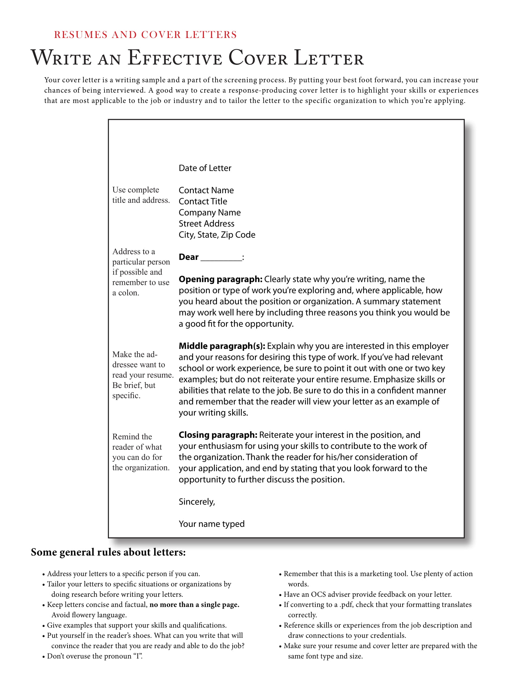 cover letter guide example
