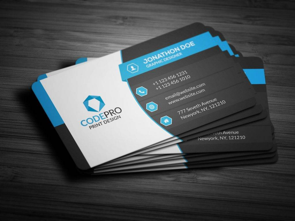 creative corporate business card example
