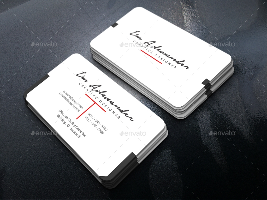 creative designer personal business card example