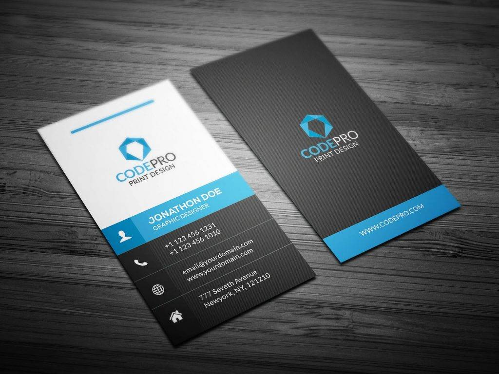 creative vertical business card example