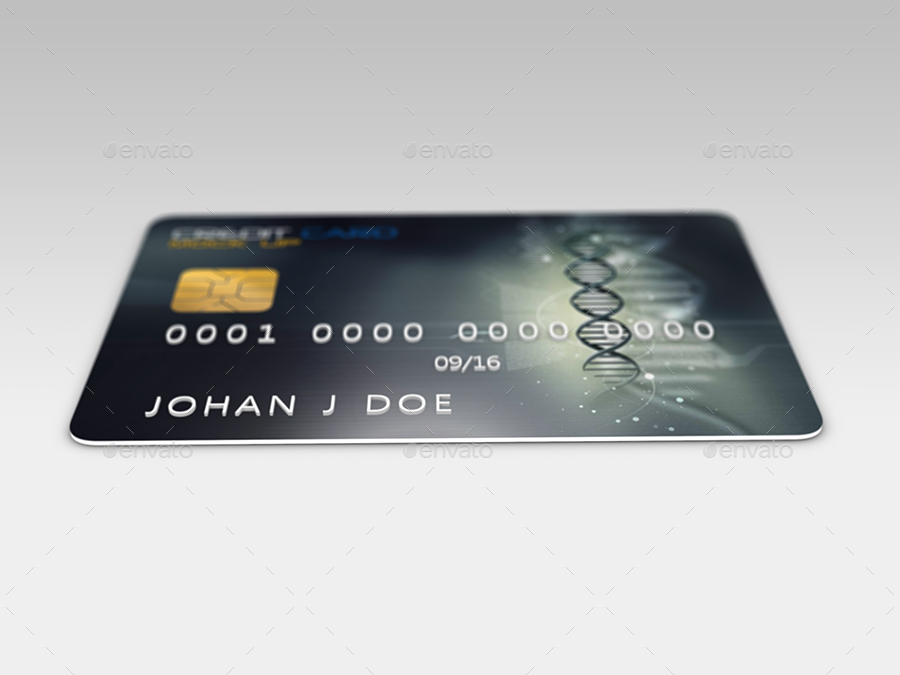 credit card realistic mock up