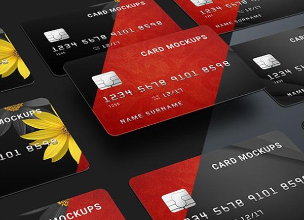 credit card or bank card mock up
