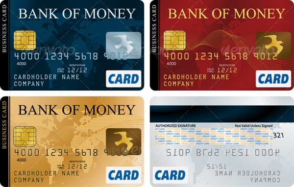 credit cards examples and templates