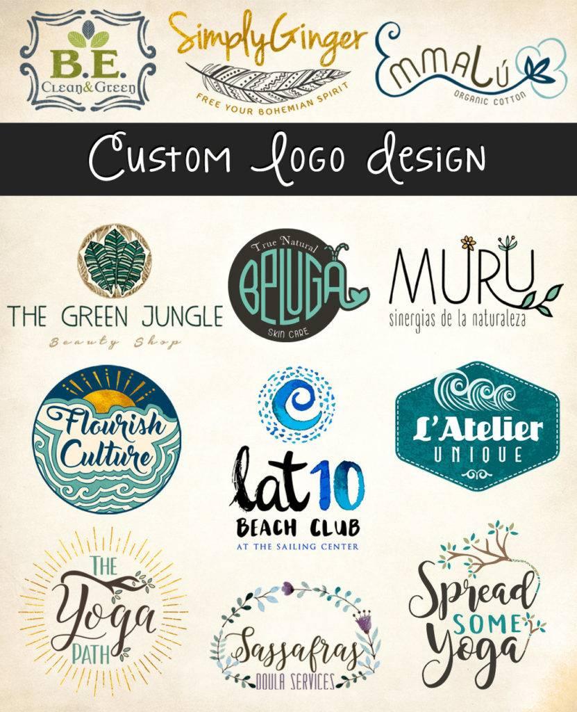 custom basic logo card package example