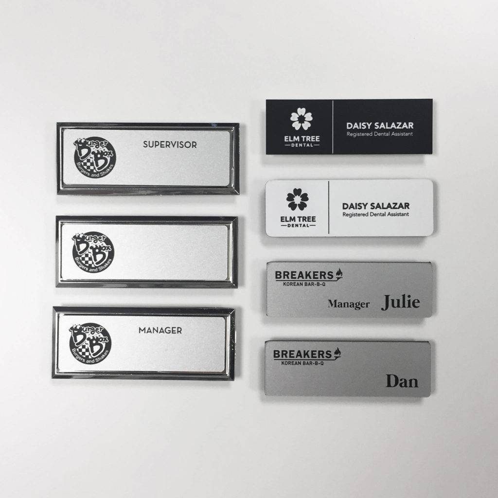 custom engraved magnetic name tag example