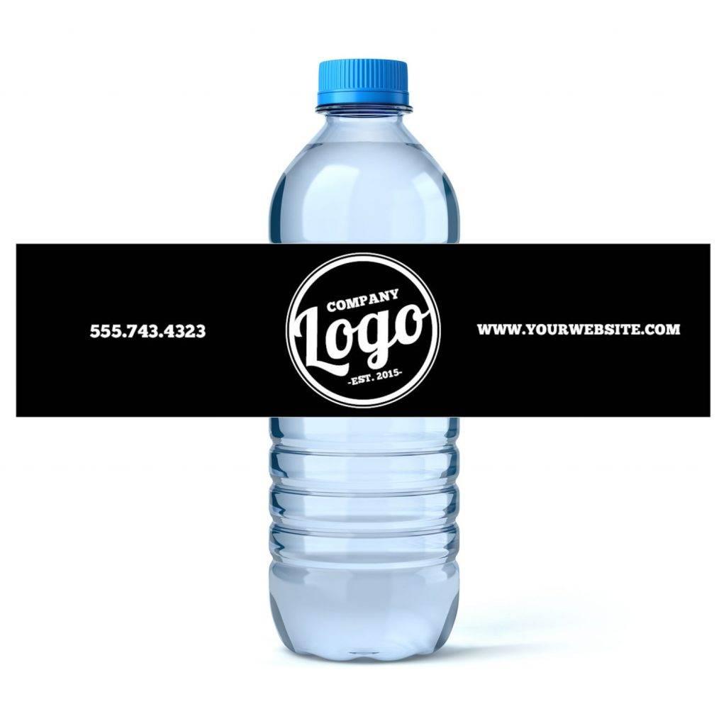 custom water bottle label example