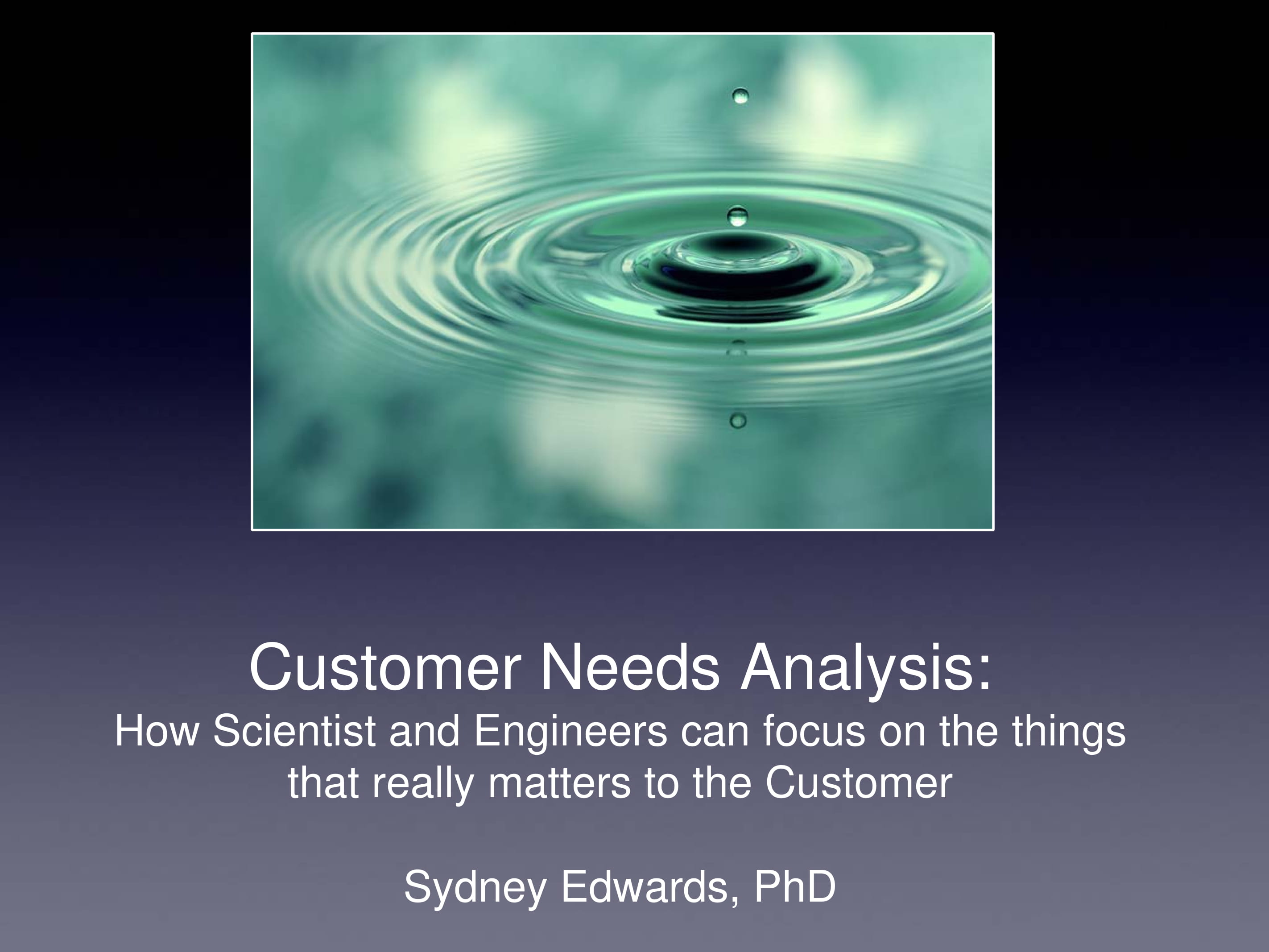 customer needs analysis example
