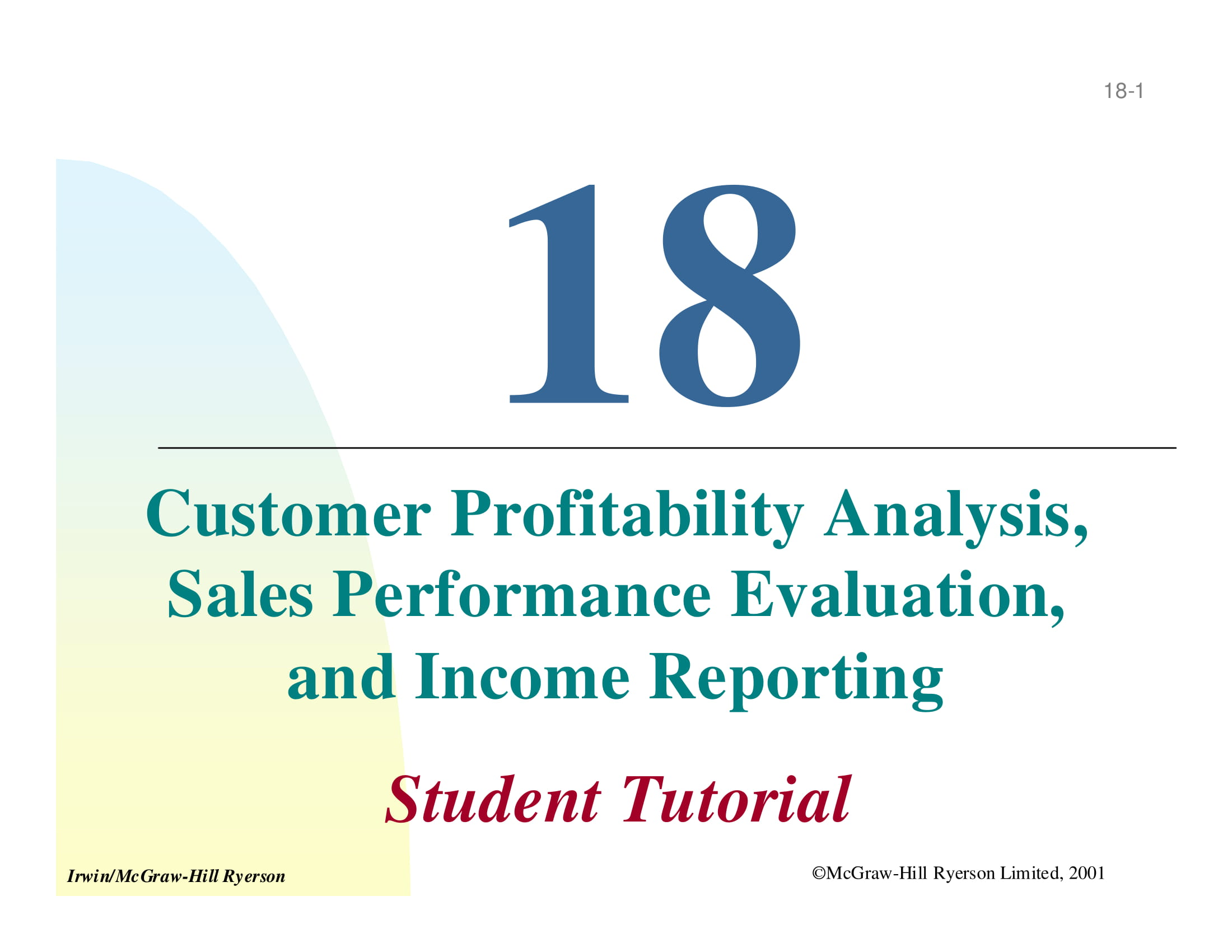 customer profitability analysis example