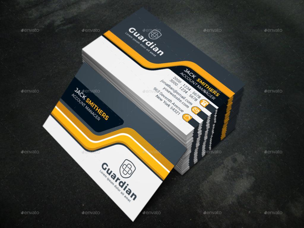 customizable corporate business card