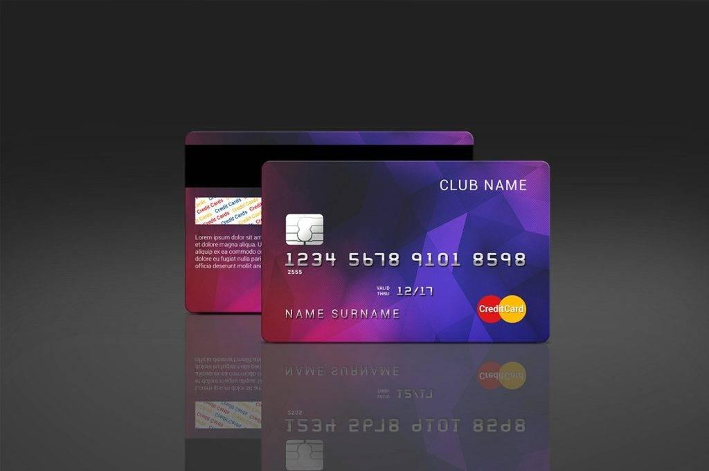 customizable credit card mock up